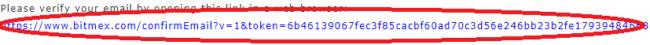 BitMEX 確認メール