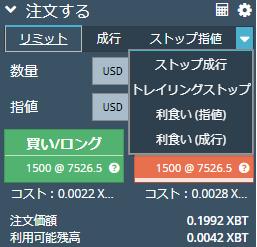 BitMEX ストップ指値(成行)、利食い指値(成行)