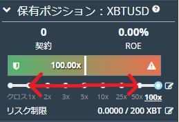 BitMEX 保有ポジション