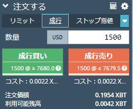 BitMEX 成行