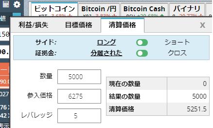 BitMEX 清算価格