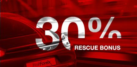 HotForex 30% レスキューボーナス